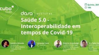 #CuboHealth Dasa - Meetup #04 - Saúde 5.0 - Interoperabilidade em Tempos de COVID-19