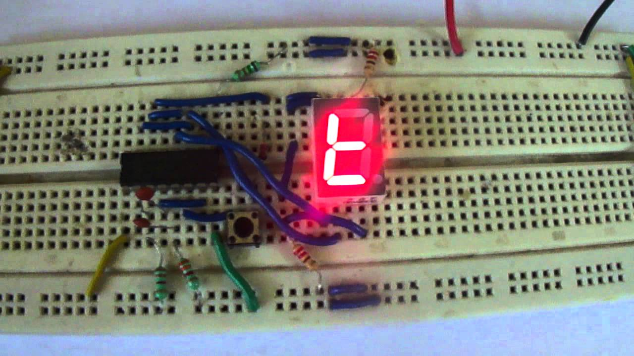 coin toss circuit on 7 segment display youtube rh youtube com electronic circuits to build electronic circuit to identify multiple wires