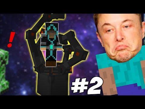 ПОЧТИ ПОСТРОИЛ РАКЕТУ   Приключения Илона Маска в Minecraft #2