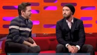 Graham Norton Show - Robert Downey jr, Jude Law русские субтитры, 1part