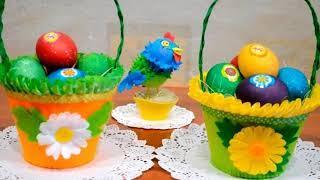 Поделки к Пасхе Пасхальные корзинки для яиц