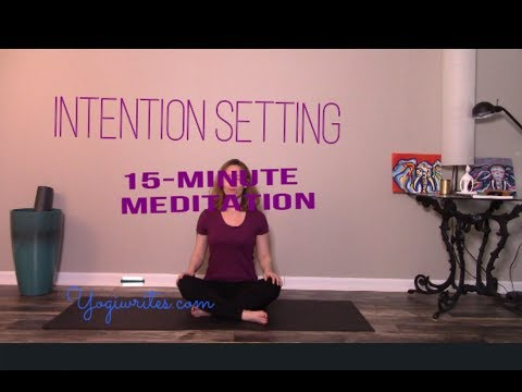 Intention Setting | Yogi Writes | 15-minute Meditation