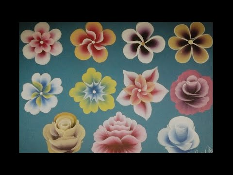 Top 11 flowers for beginners | One stroke painting flowers