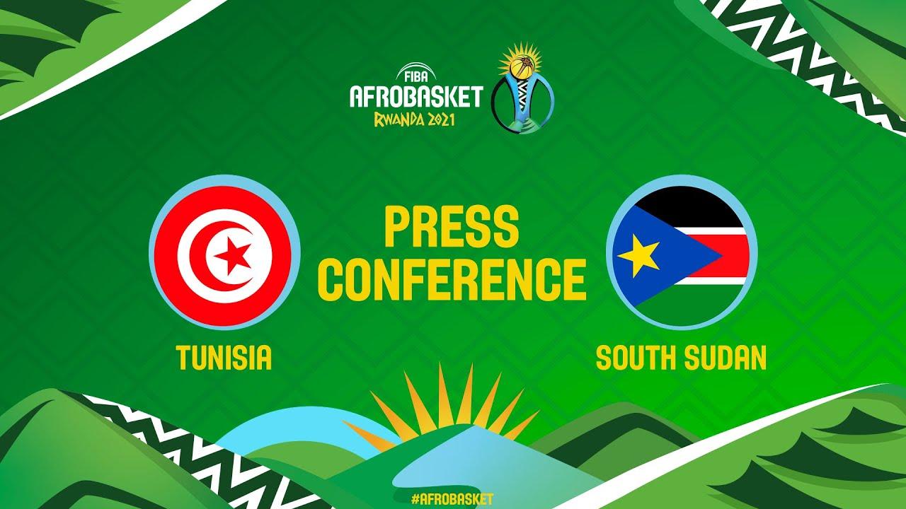 Tunisia v South Sudan - Press Conference - FIBA AfroBasket 2021