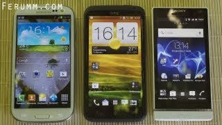 Сравнение Samsung Galaxy S3 vs HTC One X vs Sony Xperia S от сайта Ferumm.com