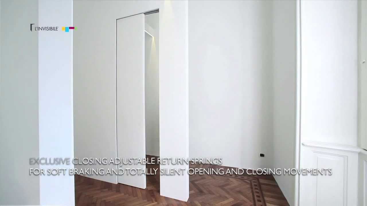 L Invisibile Porte A Scomparsa.Linvisibile Pocket Door Scorrevole Centro Parete Youtube