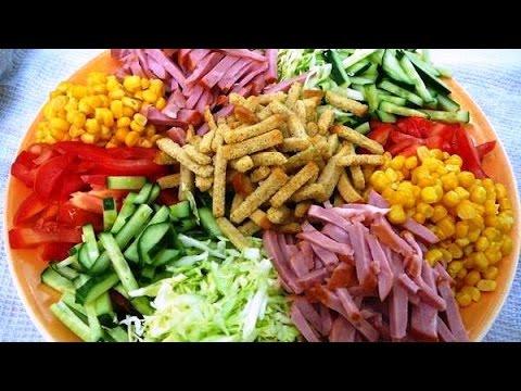 Японский салат рецепт. Легкий свежий салат.