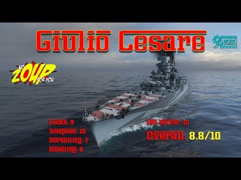 Giulio Cesare – Tier V World of Warships Premium Italian Battleship