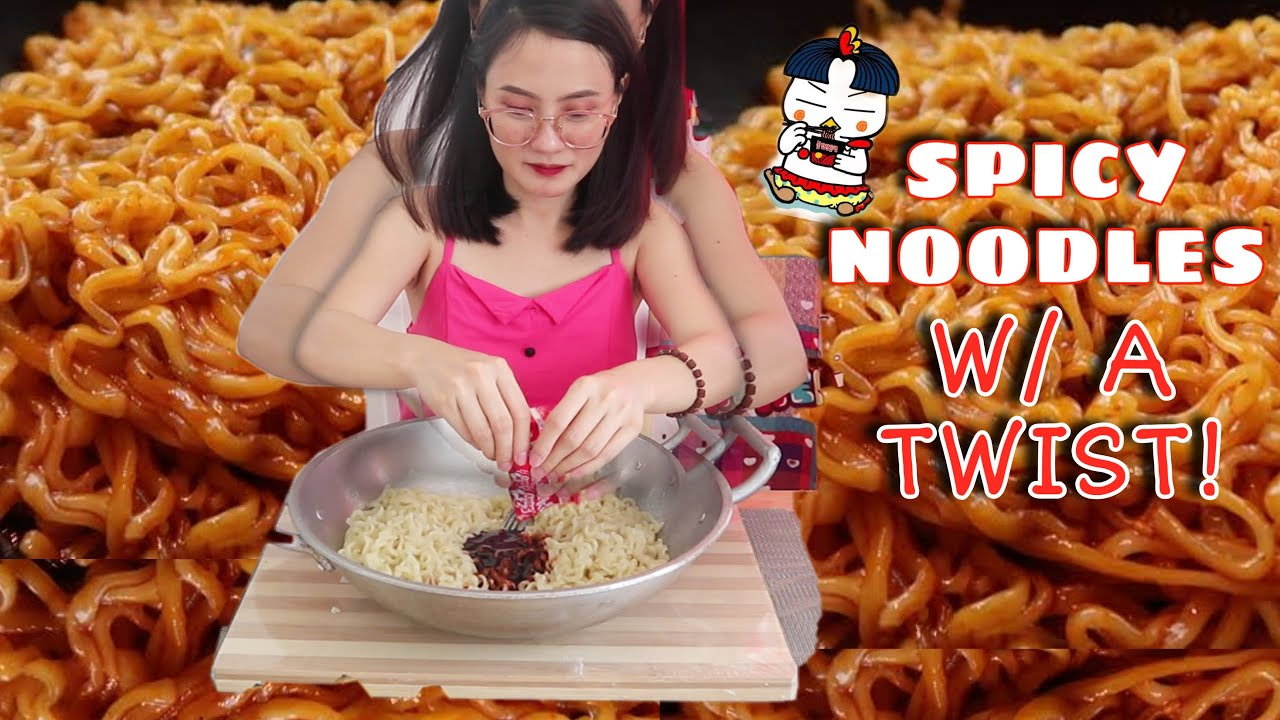 BAGONG BAGO! PAANO MAGLUTO NG SPICY NOODLES 🤣| SPICY NOODLES CHALLENGE (₱100,000 PRICE!??)