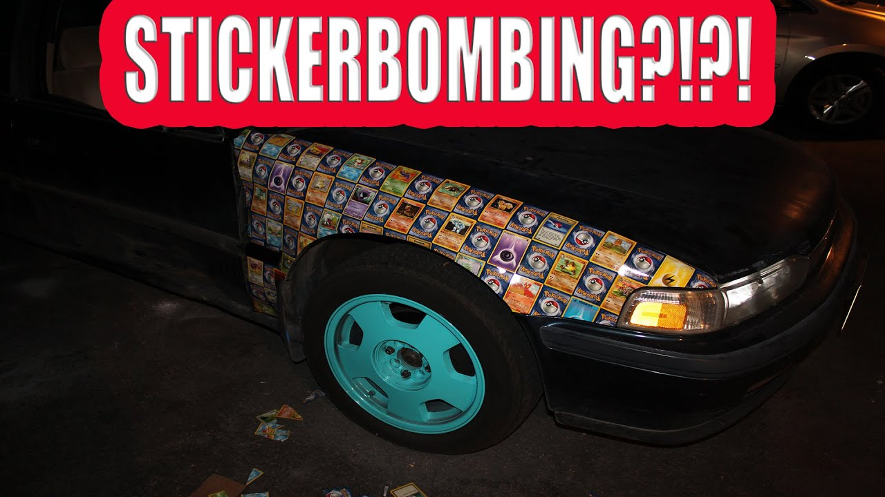 Car With Jdm Stickers Wallpaper How To Build A Ricer Part 2 Stickers And Pokemon Cards