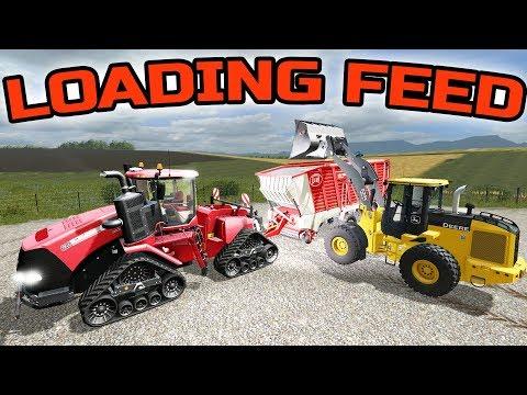 FARMING SIMULATOR 2017 | MIXING FEED AND FEEDING THE COWS + SELLING MILK | IOWA MAP EP #35 thumbnail