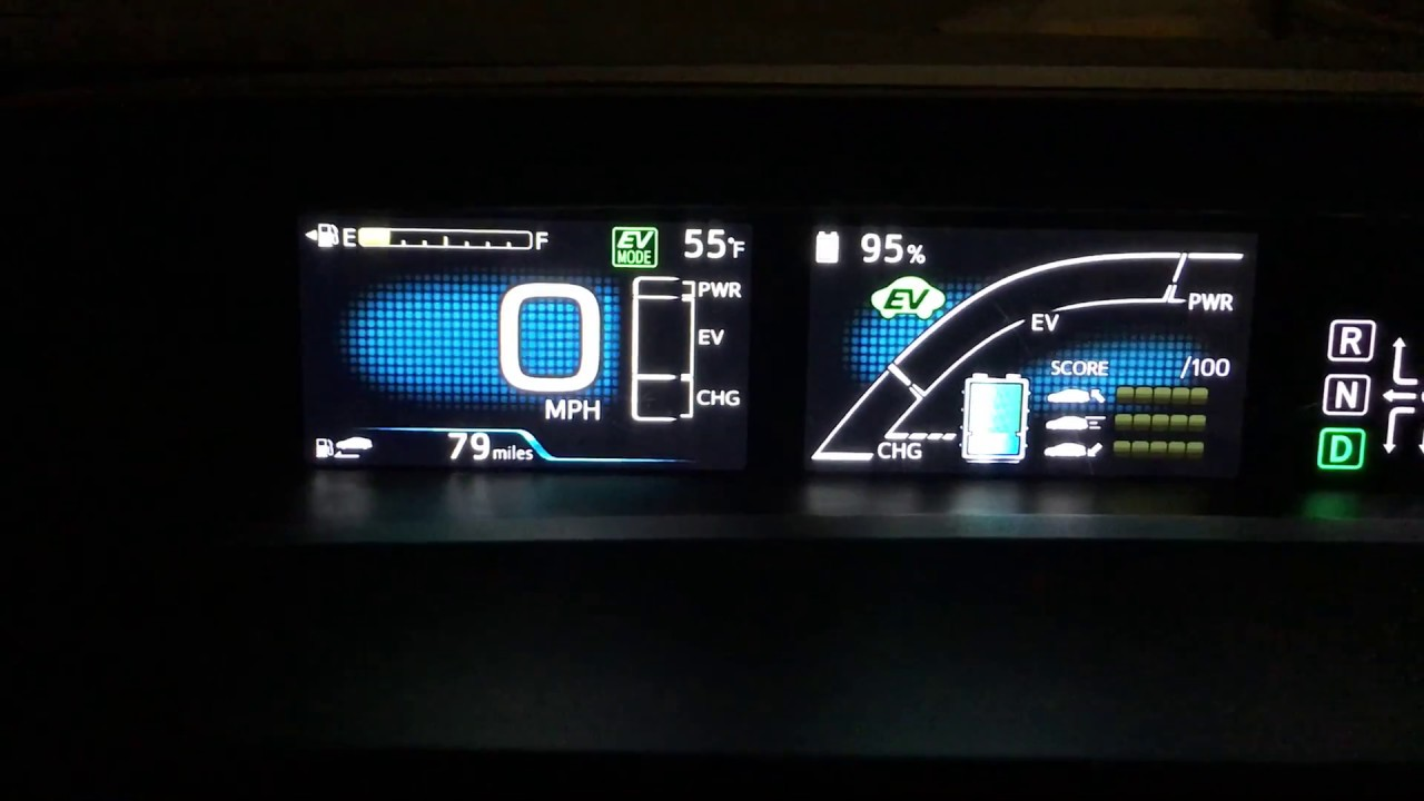Toyota Prius Prime 2017 How To Show Battery Capacity