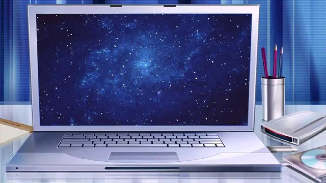 """Футаж """"ноутбук на столе"""" скачать бесплатно - YouTube"""