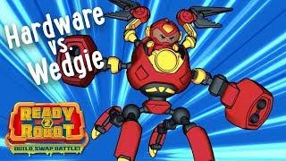 Ready2Robot | Slime Robot Battles | Episode 1: Hardware vs. Wedgie | Cartoon Webisode for Kids thumbnail