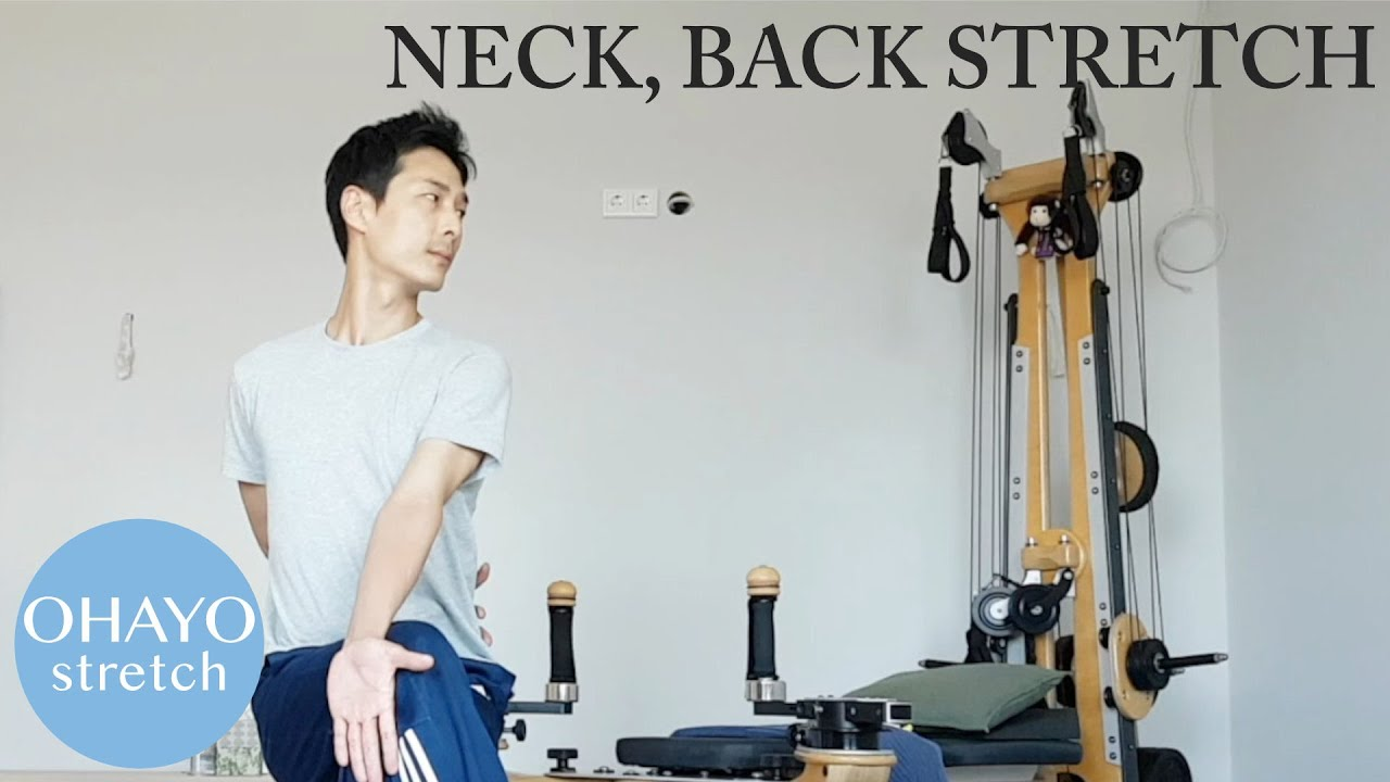 "Ohayo 1 min stretching ""Neck to back"" on youtube!"