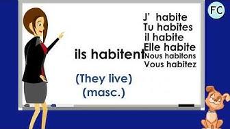 Le verbe Habiter au Présent