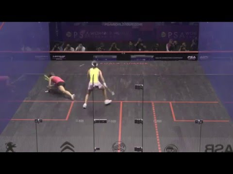 Squash: Outrageous Skill From Grinham At Women