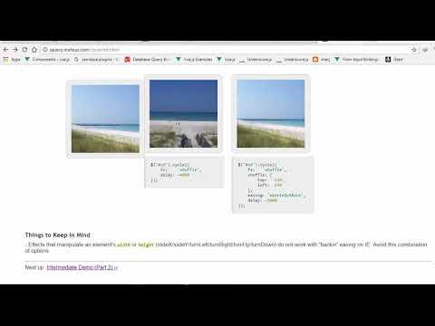 jquery cycle plugin vuejs - YouTube