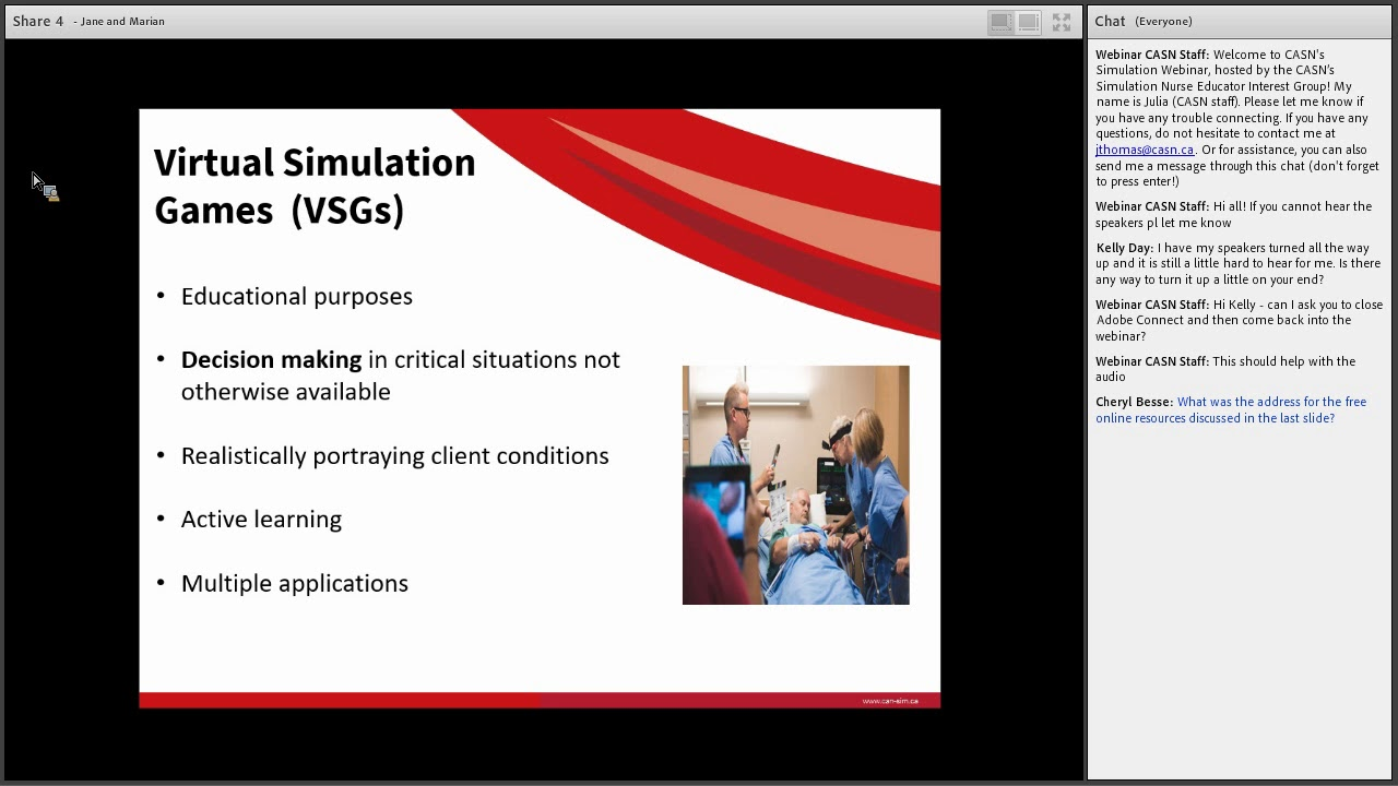 Webinar Series – Canadian Alliance of Nurse Educators using