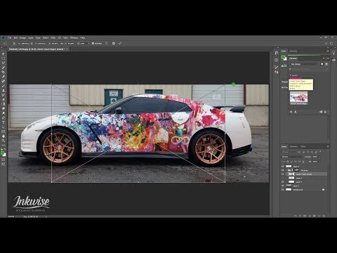 How To Make Car Wrap Concepts In Photoshop Pro CC