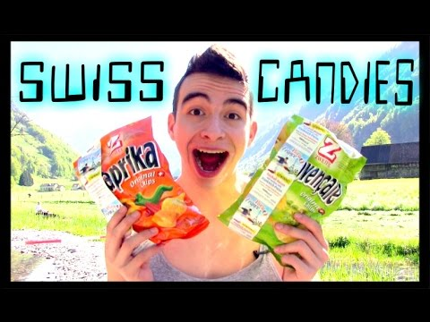 COLOMBIAN TRYING SWISS CANDIES