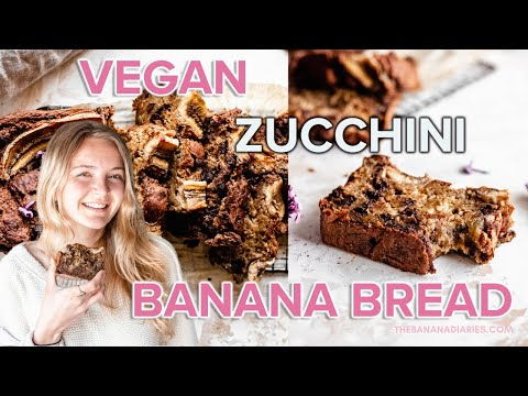 HEALTHY VEGAN ZUCCHINI BANANA BREAD | Oil Free, Low Fat, Low Sugar