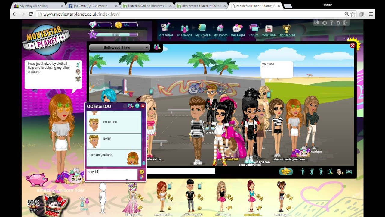 Moviestarplanet Fame Fortune And Friends I Got Hacked No Audio