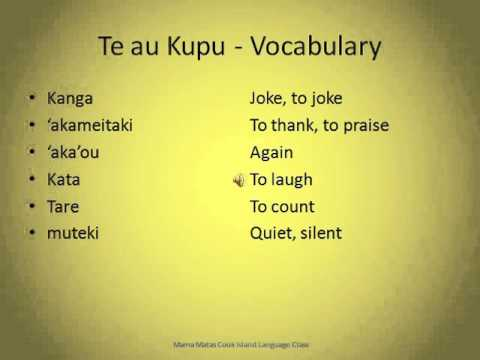 Te Apii:  Tuatua Koma   The Lesson:  Talking