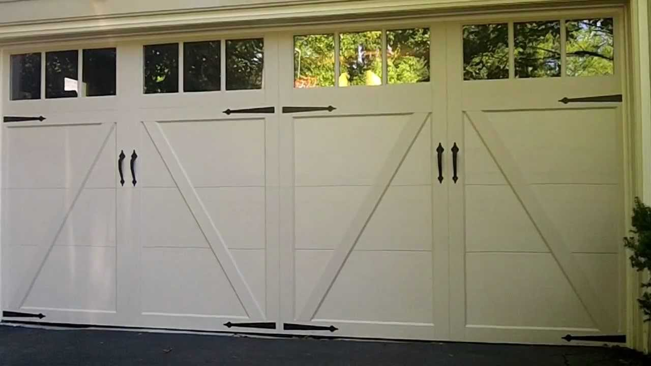 A Clopay Coachman Garage Door in HinsdaleIL  New Solid Color Line  YouTube