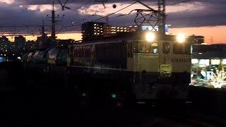 2019/11/14 JR貨物 8876レ EF65 2091 三郷駅   JR Freight: Empty Oil Tank Cars at Misato