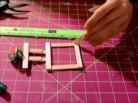 Papercraft Building a model car out of paper step 1