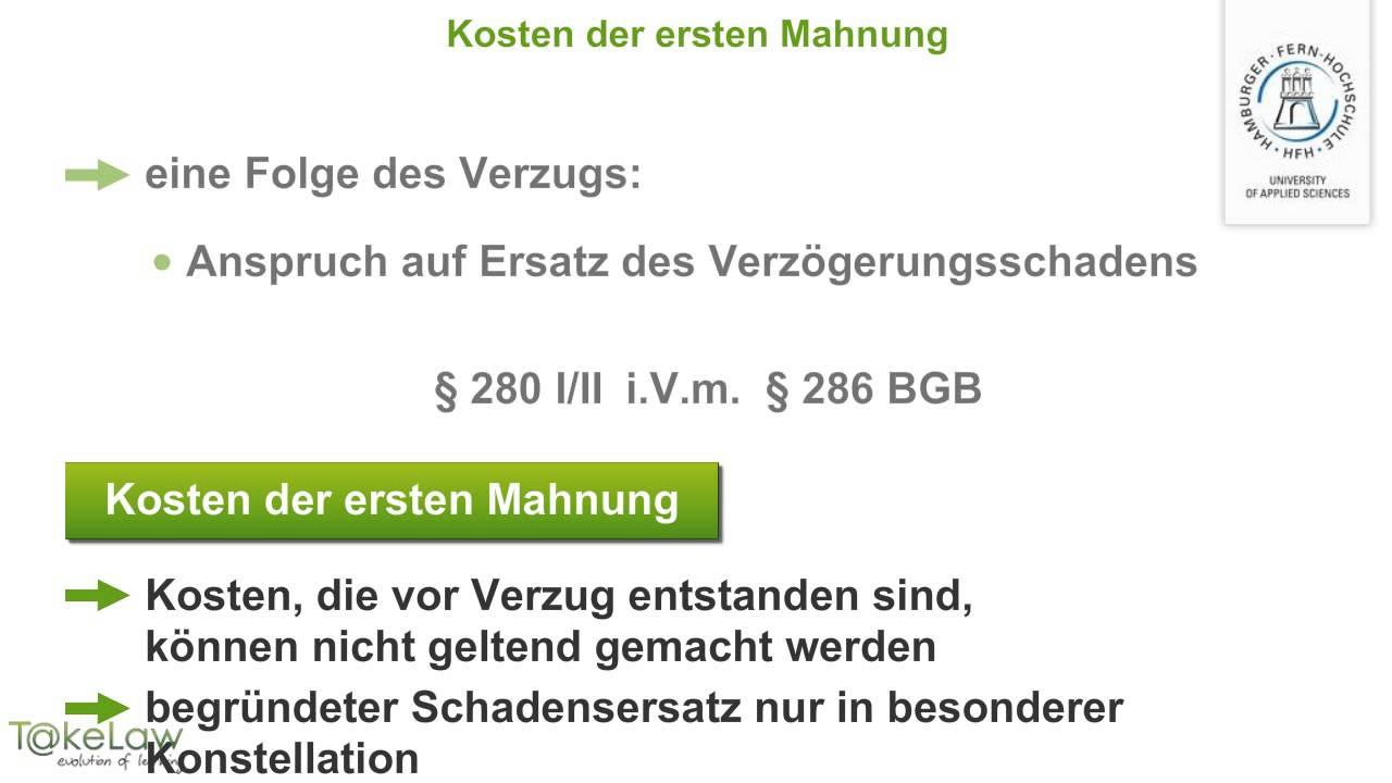 Wpr2 Schuldrecht At 279369 Vertragshaftung Kosten Erste