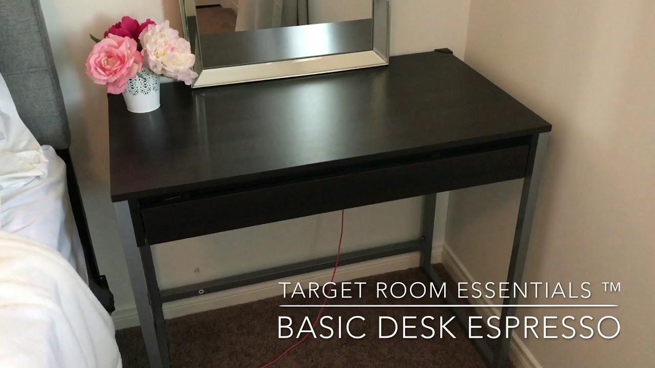 ♡Target Room Essentials™ - Basic Desk Espresso quick overview ...
