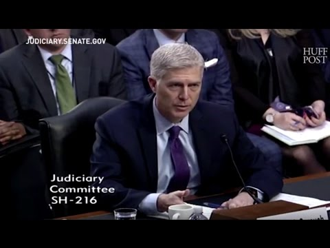 Supreme Court Nominee Neil Gorsuch Pressed On Legality Of Trump