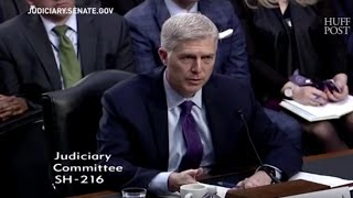 Supreme Court Nominee Neil Gorsuch Pressed On Legality Of Trump's Travel Ban