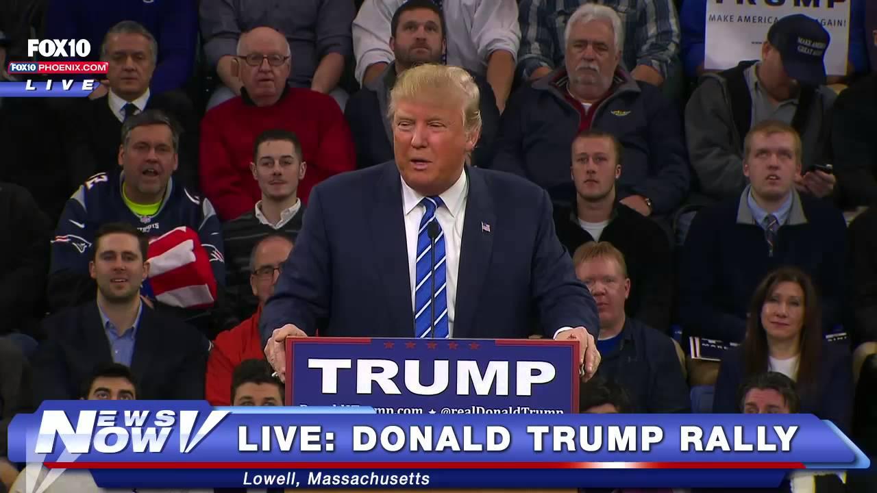 FULL Donald Trump Rally Lowell, Massachusetts - 1/4/16 ...