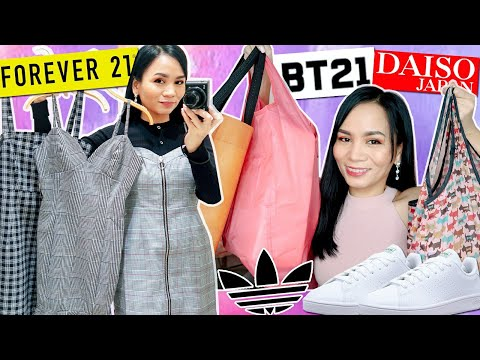SHOP WITH ME at FOREVER 21 DAISO ADIDAS | Shopping Vlog + Haul