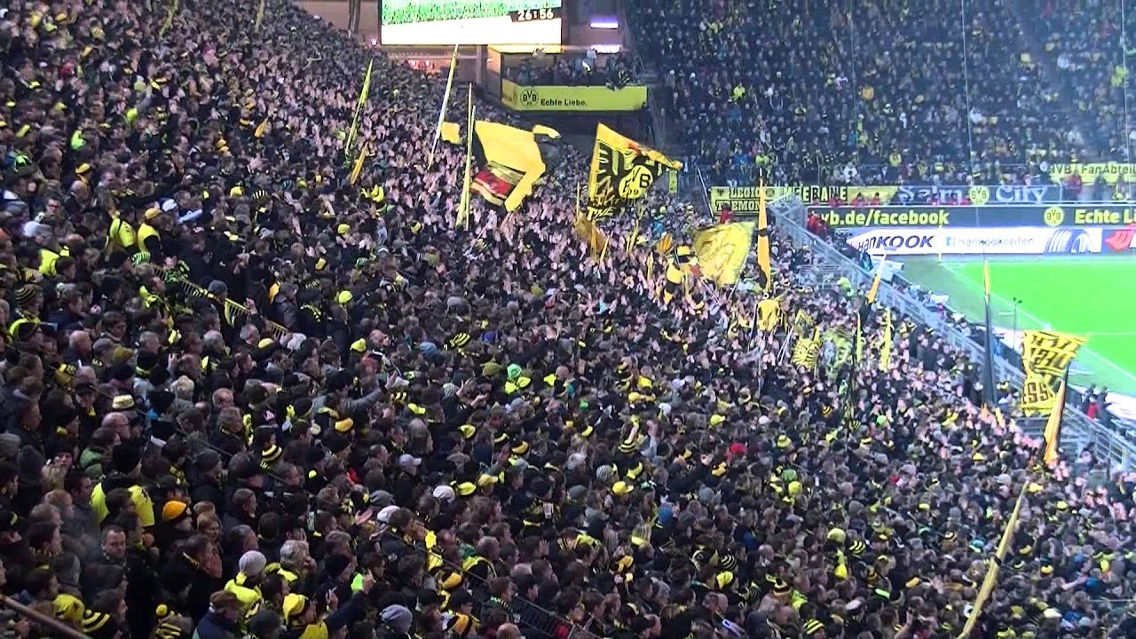 Stimmung Südtribüne: Borussia Dortmund - Bayer 04 Leverkusen (BVB 2013 Bundesliga)