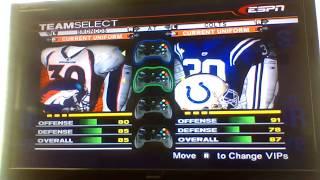 ESPN NFL 2K5 Broncos Custom Season Game 11:Indianapolis Colts V. Denver Broncos