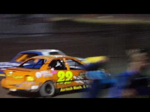HUGE WRECK!!! Silver Bullet speedway road warrior feature