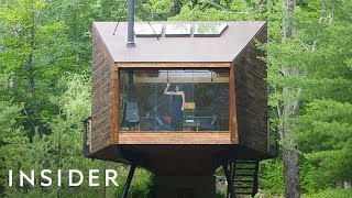 Glass Wall Treehouse On Airbnb Has 360-Degree Views