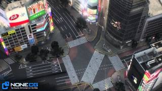 3D Model: Shibuya City in Tokyo, Japan by NoneCG Now Available on CGRIVER.COM! - 渋谷区