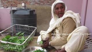 Palak Paneer Recipe ❤ Grandma style Recipe ❤ Punjabi Village Palak Paneer Recipe