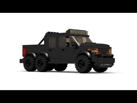 LEGO MOC Hennessey VelociRaptor 6X6 Tutorial