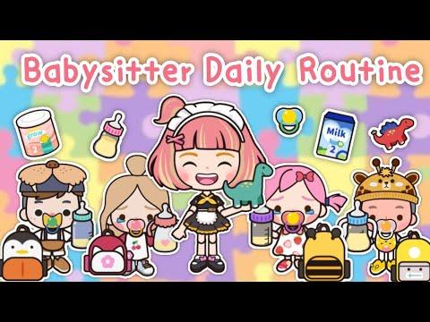 Babysitter Daily Routines 🍼👶🏻👧🏻   Miga World I กิจวัตรประจำวันของพี่เลี้ยงเด็ก ☺️🌷