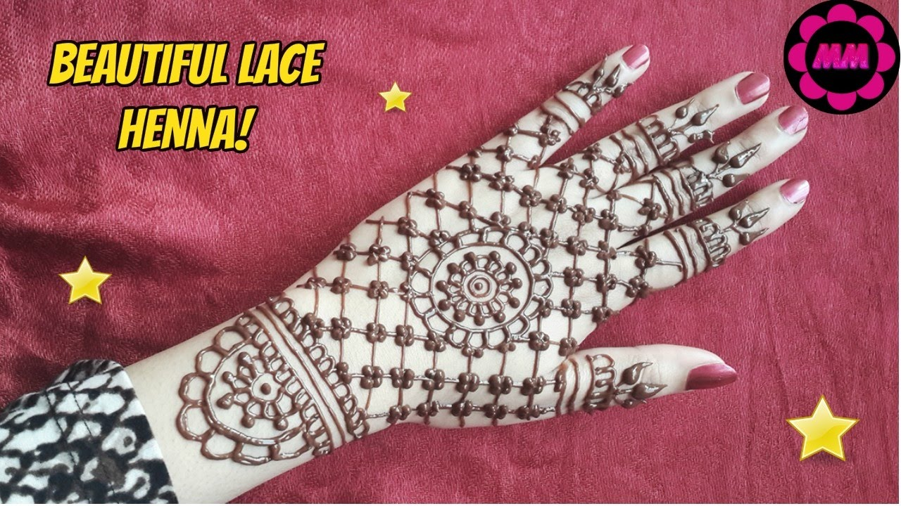 227ef4ef1c73 DIY Pretty Lace Henna Design - Simple Glove Style Mehendi - Easy to Do Henna  Tattoo - YouTube