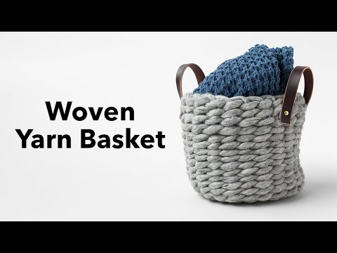 DIY Yarn Basket Tutorial with Anne Weil