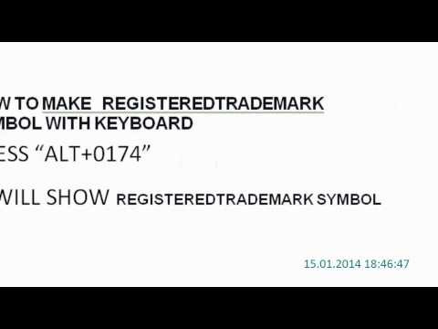 How to Make Registered Trademark Symbol With Keyboard