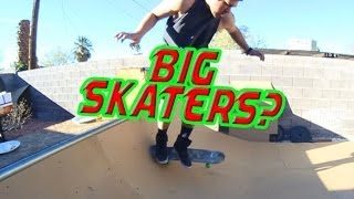 Is This Guy Too Big To Skate?