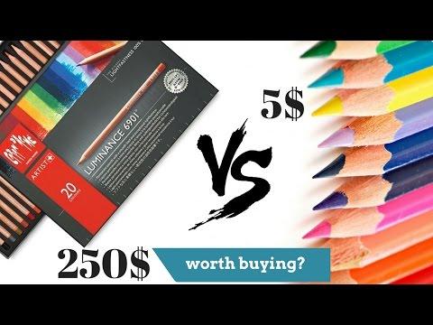 $250 VS $5 Colored Pencils Comparison - Expensive vs Cheap